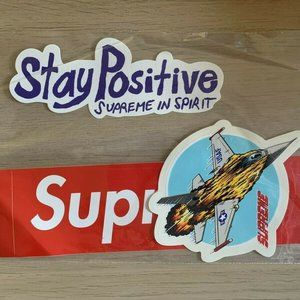 SUPREME FW20 (BOGO, Stay Positive & USAF) Sticker